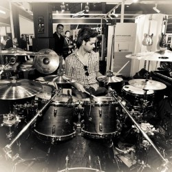 A day in the show room for demonstration with Sabian and pearl drums